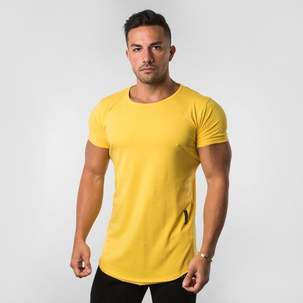 ALPHALETE 2019 New Bodybuilding Brand Men T-shirt Gyms Casual Short Sleeve O-neck Fitness Letter Print Cotton T-shirt Men Tees(China)