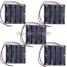 4 x AA Battery Case Holder with Leads for (For Arduino) – Black (5Packs)
