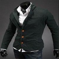 MEBOSYA 2016 New Autumn And Winter Men S Influx Goods Spell Color Collar Suit Jacket Men