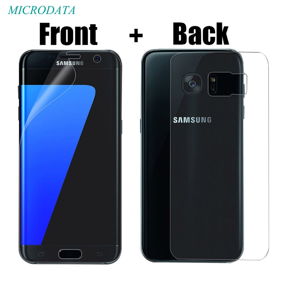2PC/lot Front and Back Full Screen Coverage Protector for Samsung Galaxy s6 s8 S7 Edge plus Screen Protector Full Cover TPU Film
