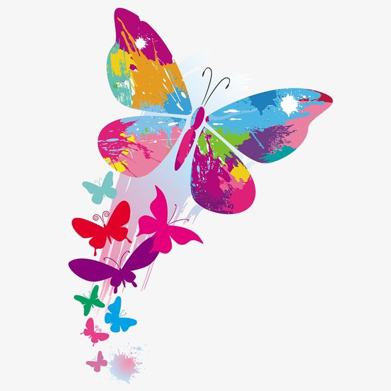 Tancredy 21 15cm Funny Graffiti Butterflies Cartoon Car