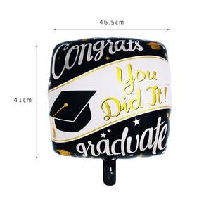 Image 4 - 5pcs Graduation Balloons Graduation Gift Cartoon Globos Back To School Decorations Congratulation Graduation 2019 Doctor Balloon