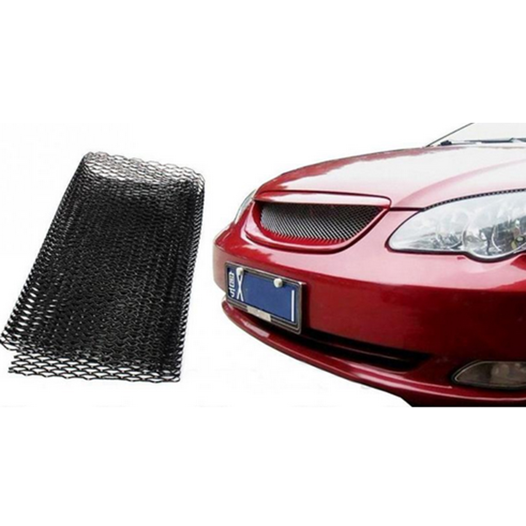 Image 2 - 1x Universal Car Vehicle Silver Tone Aluminum Alloy Rhombic Grille Mesh Sheet Black for Bumper Hood Vent Vehicle 100x33cm-in Front & Radiator Grills from Automobiles & Motorcycles