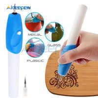 Tragbare Gravur Stift Für Scrapbooking Werkzeuge Briefpapier Diy metall Stecher stift Elektrische Carving Stift Maschine Stichel Werkzeuge Diy