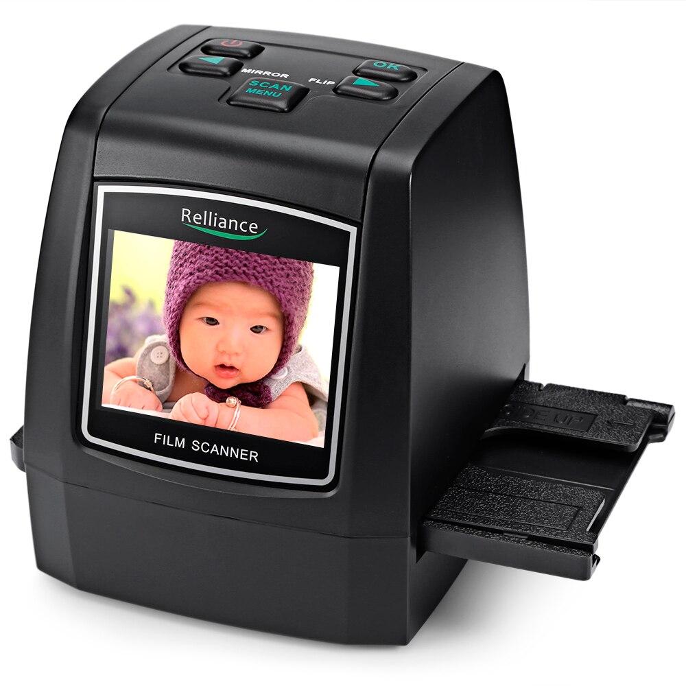 Relliance EC018 Film Scanner 135mm/ 126mm/ 110mm/ 8mm High-resolution Negative Film Slide Scanner Converter USB MSDC EU/US plug 9