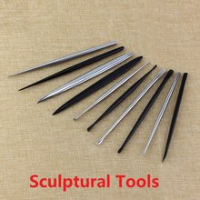 1/5Pcs Sculptural Tools Stell Needle Steel Clay Tool Super-Quality Pottery Plasticine Sludge Surgeon DIY Art Manual Box Bag(China)