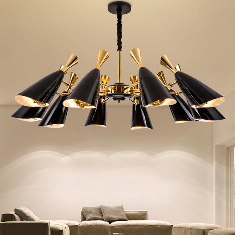 Modern creative two way head speaker chandelier LED lamp 10/12 heads For villa restaurant bedroom hotel lobby Home lighting G253