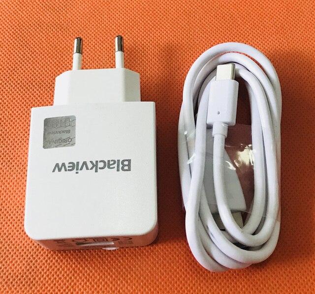"""Du Lịch Sạc EU Cắm + Cáp USB Type C Dành Cho Camera Hành Trình Blackview BV8000 Pro 5.0 """"FHD MTK6757 Octa core Miễn Phí Vận Chuyển"""