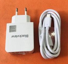 """Originale Caricabatterie Da Viaggio Adattatore di Spina di UE + Tipo C Cavo USB per Blackview BV8000 Pro 5.0 """"FHD MTK6757 Octa nucleo di trasporto libero"""