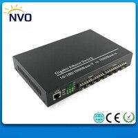 1000 м 1rj45 + 1000 м 8SFP, евро Зарядное устройство, внешний блок питания, неуправляемый multi SFP Волокно оптические Ethernet Волокно оптический коммутатор