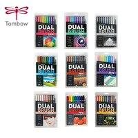 TUNACOCO 10pcs/set TOMBOW Mark pen set double head markers color pen soft brush pen drawing nomination art supplies bb1710080