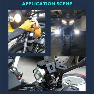 Image 5 - Faro Del motociclo U5 HA CONDOTTO I Riflettori Moto Illuminazione Ausiliaria DRL Moto Lampade Della luce di Nebbia Universale 12V di spedizione Gratuiti Per Biciclette Auto