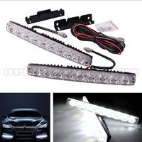 1 Pair Super Bright White 18W 9 LED Car Headlight Daytime Running Light DRL Fog