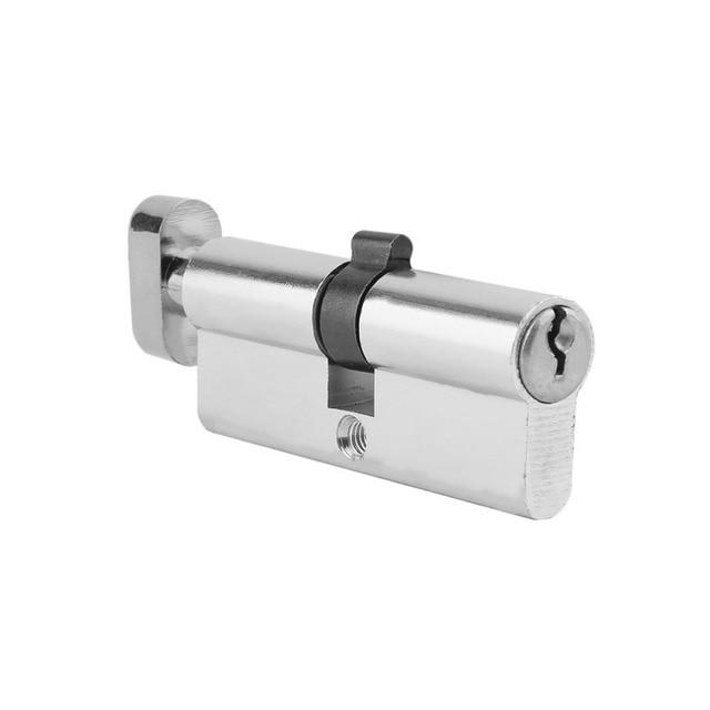 70mm Aluminum Metal Door Lock Cylinder Home Security Anti-Snap Anti-Drill With 3 Keys Silver Tone Set Tools