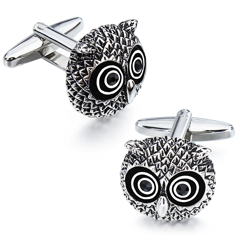 HAWSON Funny and Classic Owls Cufflinks and Studs Set for Men for Tuxedo  Luxury Gift for Party