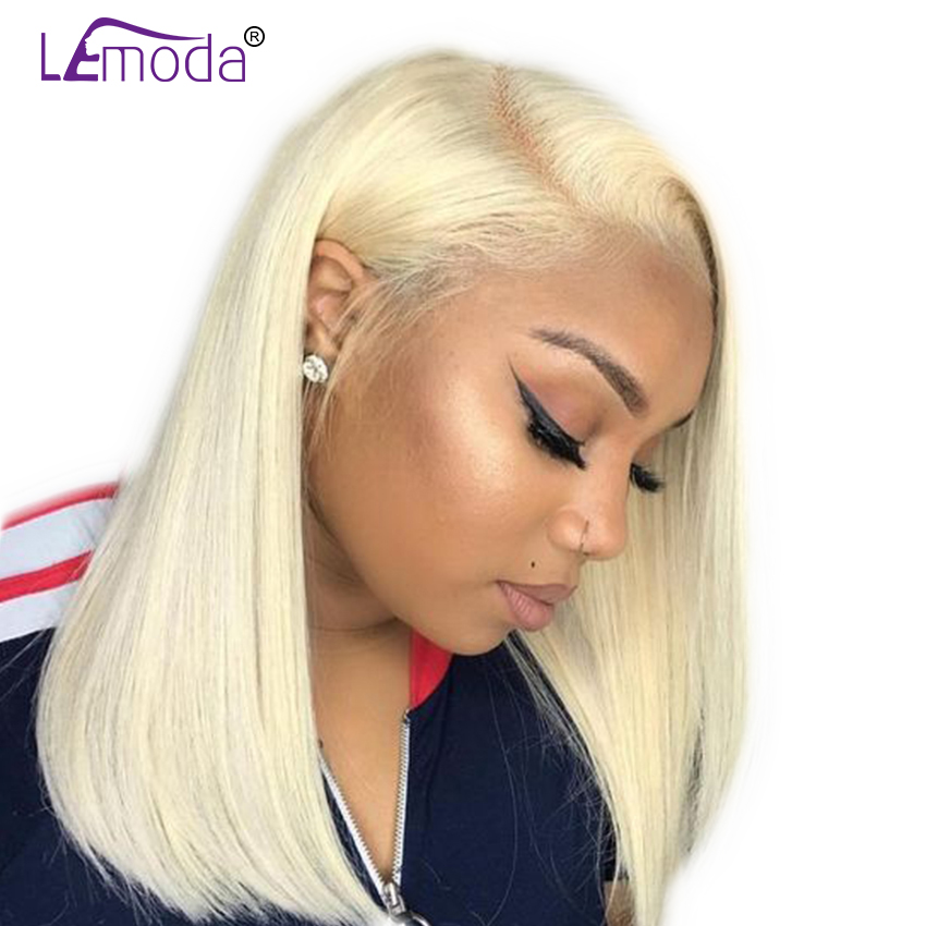 613 lace front Human Hair wigs Short Bob Wig 150% Density Blonde Brazilian Straight Hair Wigs (China)