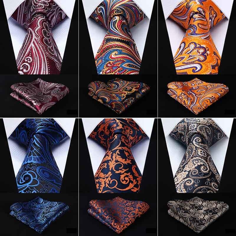 HISDERN Herren Burgund Rot Krawatte Taschentuch Hochzeit Classic Krawatte /& Einstecktuch Set