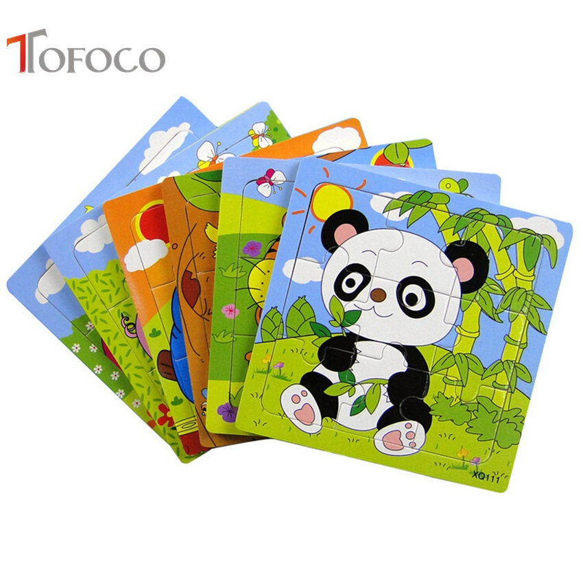 3b83b02e8c92a Tofoco لطيف الحيوان كتل خشبية للأطفال متعددة الأغراض الكرتون الحيوان  الباندا للتربية ألعاب خشبية