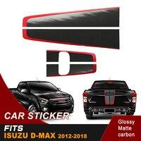 hood car sticker and back door handle insert rear door graphic Vinyl sticker for isuzu dmax 2012 2018