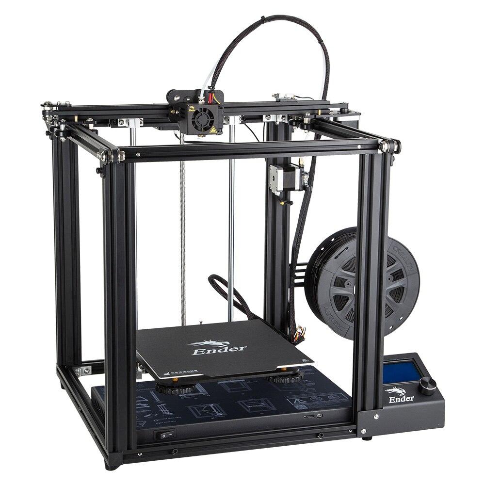 Date Créalité 3D Imprimante Ender-5 Imprimante Avec Meanwell Puissance Stable Structure Fermée Et Hors Tension Reprendre Impression 220*200*300