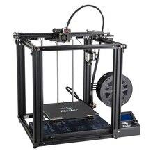 Новейший Creality 3d принтер Ender-5 принтер с Meanwell стабильная мощность закрытая структура и мощность от резюме печати 220*200*300