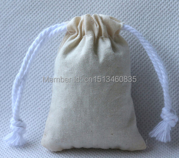 100pcs/lot free shipping cotton jewelry pouch cotton gift pouch cotton drawstring pouch bag custom logo jewelry bag cosmetic bag