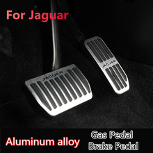 Aluminum Alloy Car Accessory Gas Pedal Brake Pedal For Jaguar XE XF F-PACE F PACE 2015 2016 2017 2018 Gas Brake Foot Rest Pedal no drill 2pcs fuel gas brake foot pedal pad plate set for jaguar xf 2009 2015