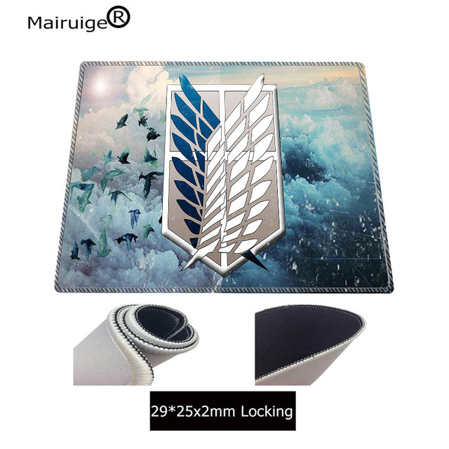 Attack on Titan Large Lock Edge Gaming Mouse Pads