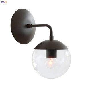 Image 5 - IWHD luces de pared LED modernas de estilo nórdico, accesorios de iluminación para sala de estar, luz para espejo de baño, lámpara de pared de bola de cristal, candelabro para el hogar