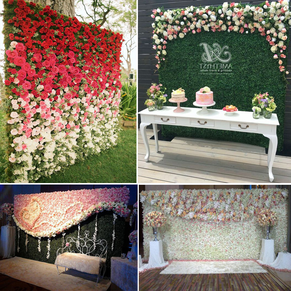 Buy 10pcs 60cm x 90cm double sides floral for Wedding wall decor