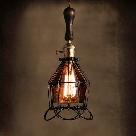 Edison Loft Style Industrial Wind Vintage Pendant Light Fixtures For Dining Room Wood Iron Hanging Lamp Lamparas Colgantes antique loft style iron droplight industrial wind vintage pendant light fixtures dining room hanging lamp lamparas colgantes