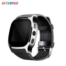 Interpad T8 Bluetooth Relógio Inteligente Com Suporte para Câmera TF SIM cartão de Chamada Smartwatch DZ09 Relógio De Pulso Sports Para Android PK A1 GT08