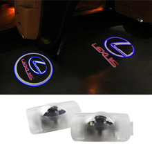 2X LED Car Door Welcome Light Coursety Lamp for Lexus RX300 IS250 RX GX470 RX330 330