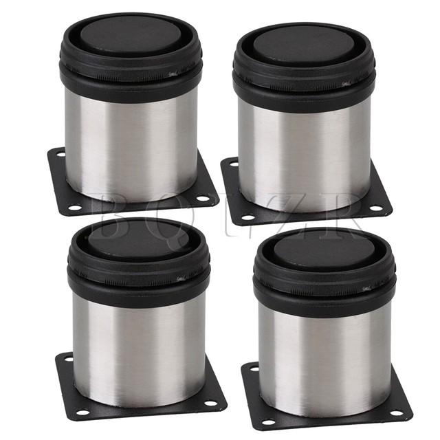 BQLZR 4 x Metal Móveis Gabinete Pernas De Mesa Stand Pés Em Aço Inox 1.97x2.36