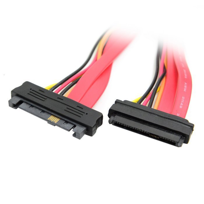 50pcs 3FT 100cm SAS Hard Disk drive SFF-8482 SAS Cable 29Pin Male to Female Extension Cable , By Fedex