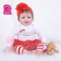 55CM Cheap Popular Baby Alive Doll Reborn Baby Silicone Cloth Body Handmade Realistic Baby Gift Kids Toys