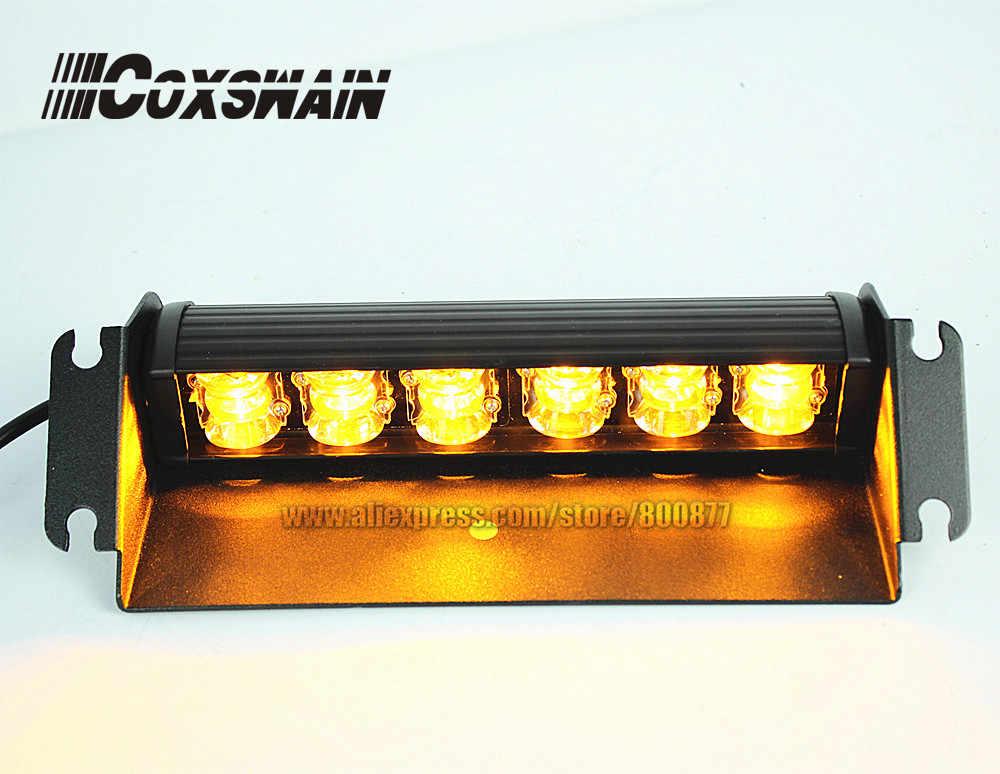 Coxswain автомобильный фонарь, аварийный предупреждающий светильник на лобовое стекло, дневные предупреждающие Противотуманные фары DRL, маячок, стробоскоп, аварийный противотуманный светильник, 12 В