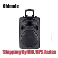 Outdoor Stereo 12 inch High power Square Dance Card Portable Speaker Storage Battery Trolley Dancing Bluetooth Speaker