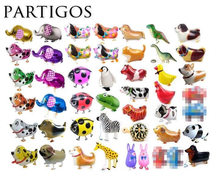 100 sztuk śliczne chodzenia zwierząt balony Puppy pies zwierzęta wszelkiego rodzaju świat zwierząt balon urodziny strona dekoracji dla dzieci zabawki dostaw w Balony i akcesoria od Dom i ogród na  Grupa 1