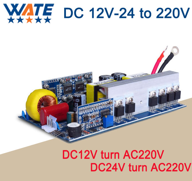 500W DC 12V/24V to AC 220V/110V pure sine inverter board /frequency inverter board Backup Power