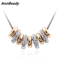 Delicate Simple style Austria Crystal Beads Pendant Necklace Fashion Design Jewelry Gift For Women