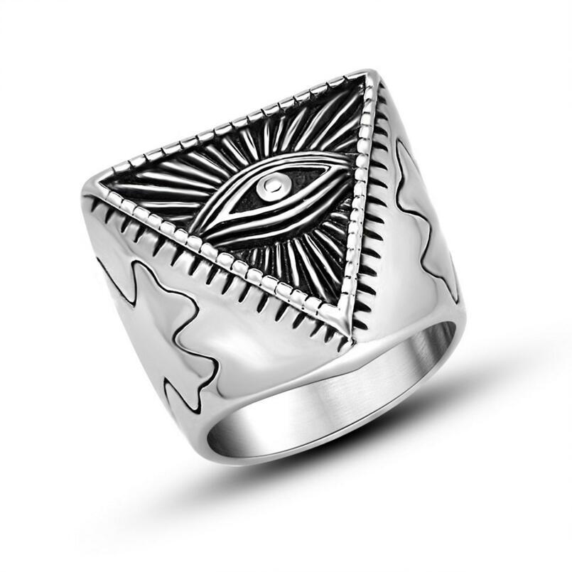 Retro Evil Eye Weird Statement Ring In Stainless Steel Rings From Jewelry Accessories On Aliexpress