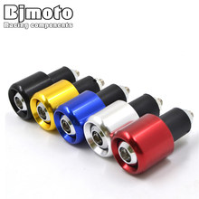 Universal Motorbike Handlebar End Plug Slider Motorcycle Counterweight Handlebar Ends 7/8'' Handle Bar Cap Cover(China)