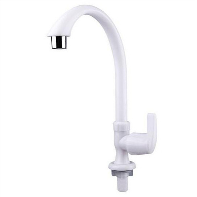 Kitchen Wall Faucets Subway Tile Backsplash Plastic Faucet Pp Single Cold Sink Tap Bibcock