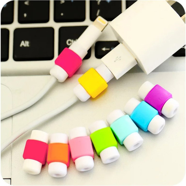 5PCS/Lot Cable Protector for Original Macbook iPad iPhone Power Cable Charger USB Cable Mini Silicone Cable Protection Winder