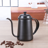 2017 Black Stainless Steel 650ml Coffee Tea Pot Hand Small Mouth Coffee Pot  Long Mouth kettle Teapot Coffee Accessories