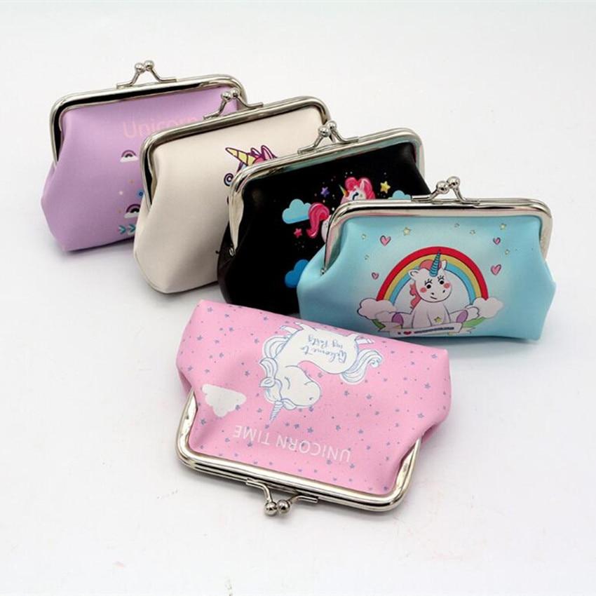 M290 2018 Cartoo Women Bag Zero Purse Fashion Animal Unicorn Hasp Coin Purses Girl Women Student Gift Wholesale