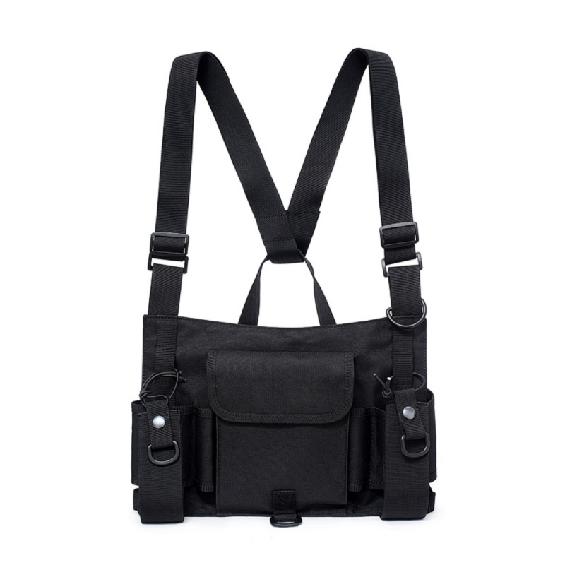 Bag Holster Pouch Harness-Pack Carry-Waist-Bag Chest-Rig Adjustable Tactical Vest Walkie-Talkie
