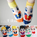 12pairs/lot korean style cartoon short cotton socks Sailor Moon socks ankle Socks women Breathable cute