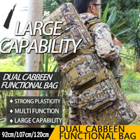 WoSporT Tactical Double Carbine Case dual two rifles bag Large 3642 47 92/107/120cm 1.2m for Gun Hunting Shooting paintball